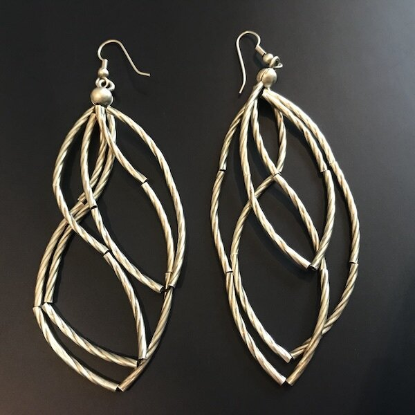 OTE-36 Silver plated earrings