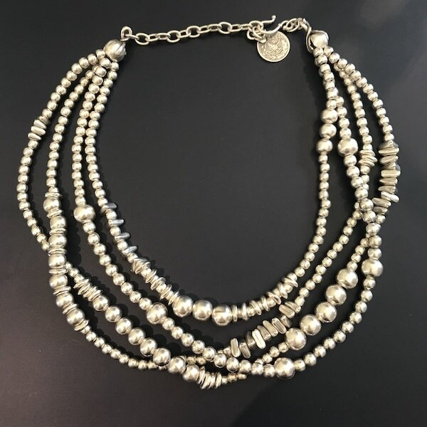 OTN-44 Silver plated necklace