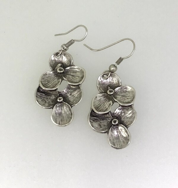 OTE-39 Silver plated earrings