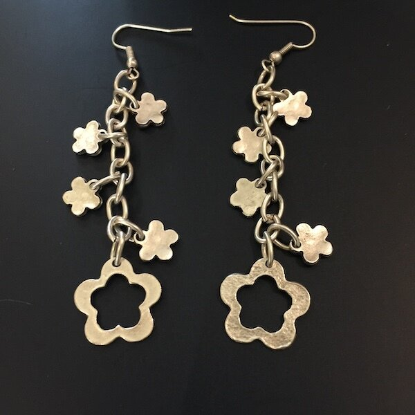 OTE-42 Silver plated earrings