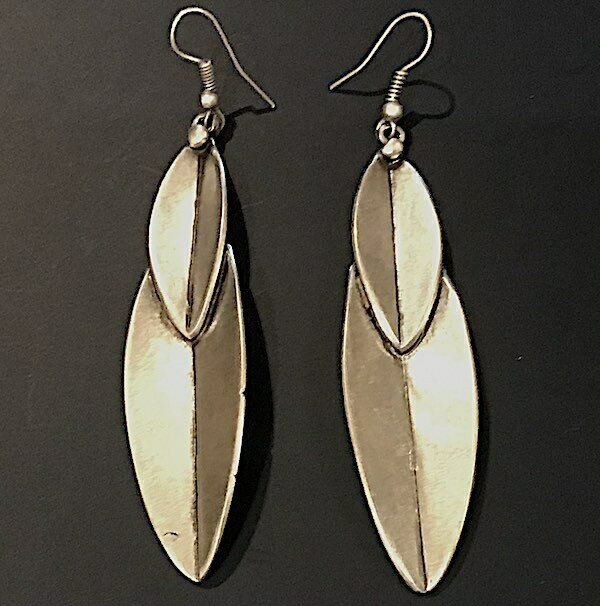 OTE-46 Silver plated earrings