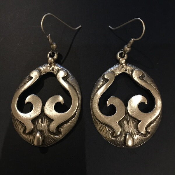 OTE-48 Silver plated earrings