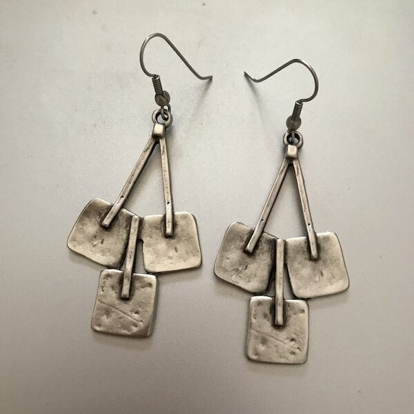 OTE-52 Silver plated earrings