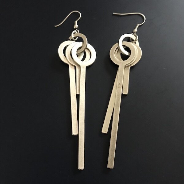 OTE-54 Silver plated earrings