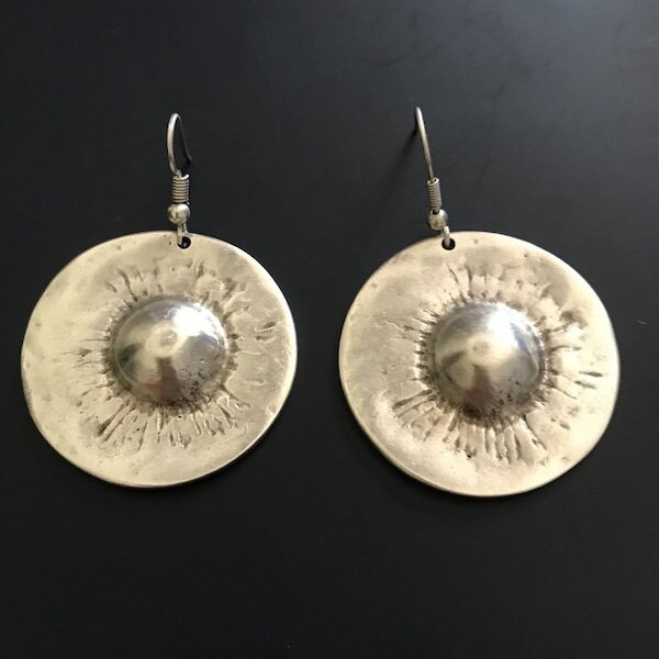 OTE-56 Silver plated earrings