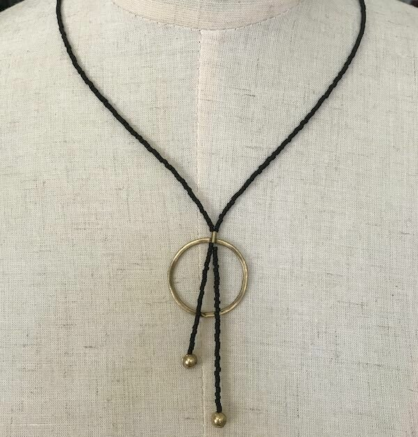 OTNB-46 Bronze and stone necklace