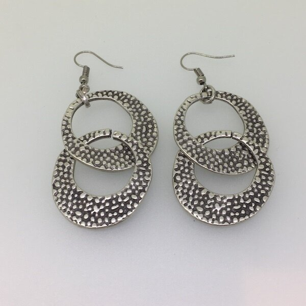 OTE-57 Silver plated earrings