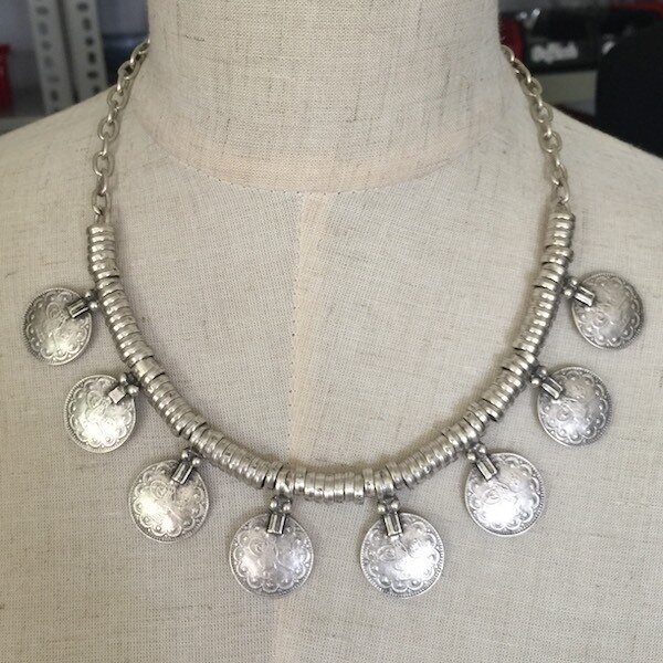 OTN-49 Silver plated necklace