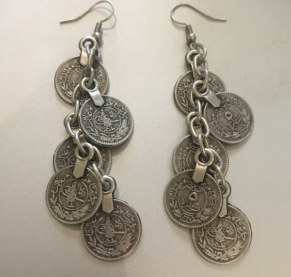 OTE-59 Silver plated earrings