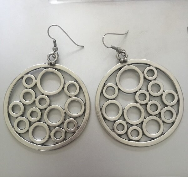 OTE-60 Silver plated earrings