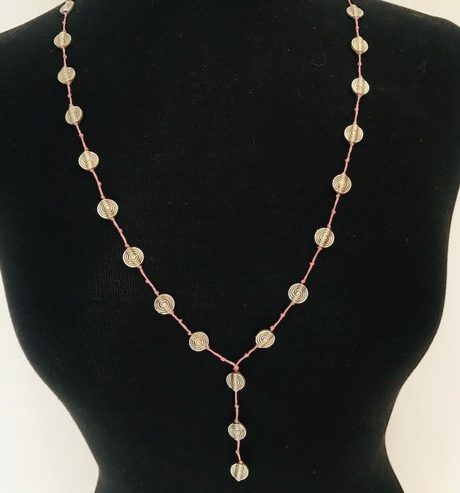 JD010PNK - Silver Plated Necklace