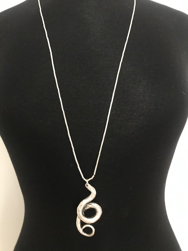 OTN-56 Silver plated necklace