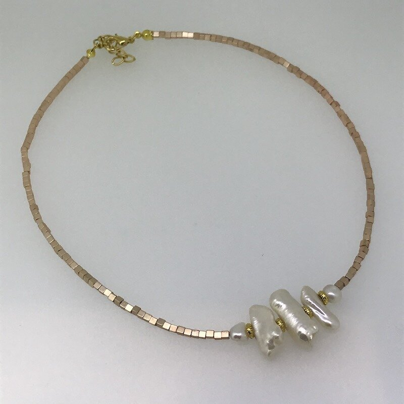LHN-45 Silver & Gold plated necklace