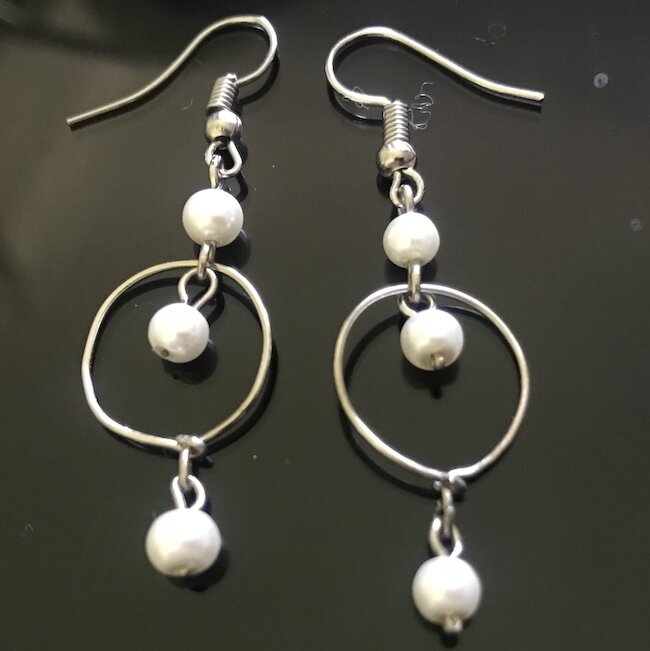 BE-2007 Silver & Gold plated earrings