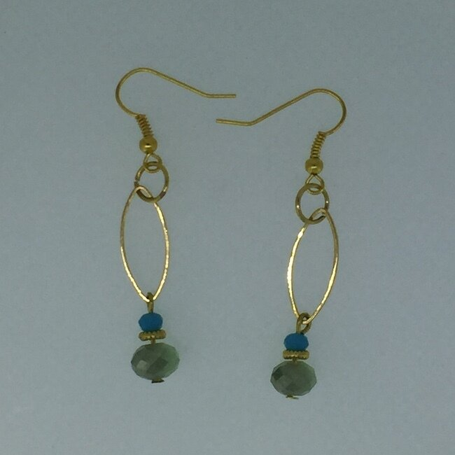 BE-2006 Silver & Gold plated earrings