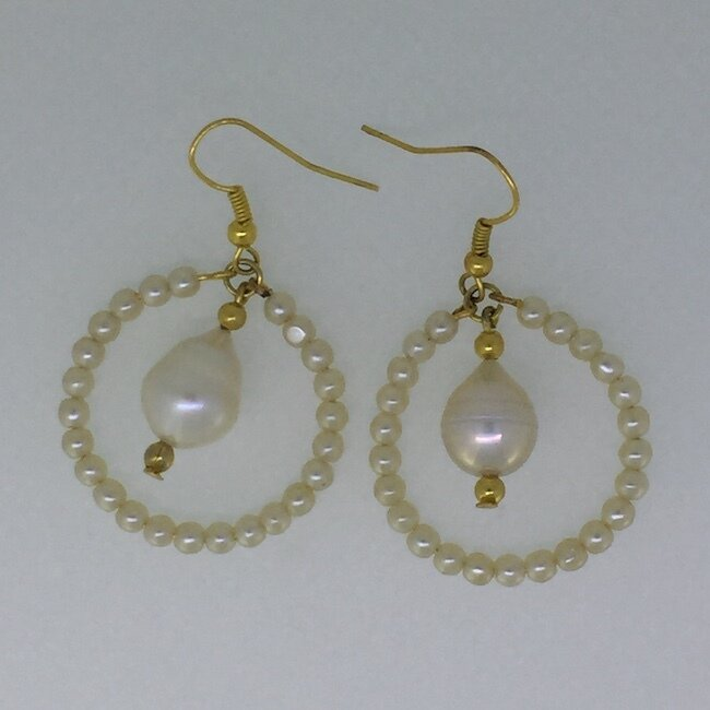 BE-2013 Silver & Gold plated earrings