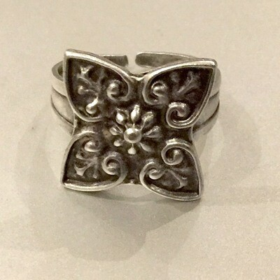 OTR-8 Silver plated ring