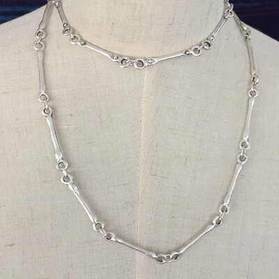 OTN-28 Silver plated necklace