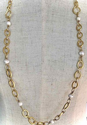 BN-1904 Gold plated necklace