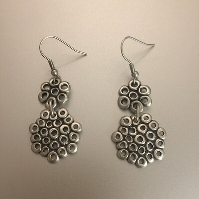 OTE-3486 - Silver plated earrings