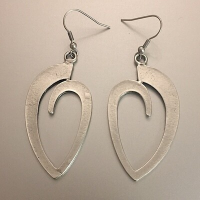 OTE-3018 - Silver plated earrings