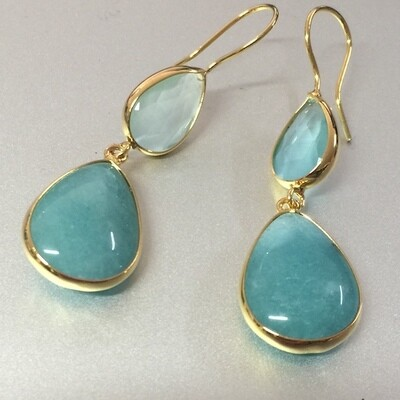 BE-828 - opaque turquoise gold