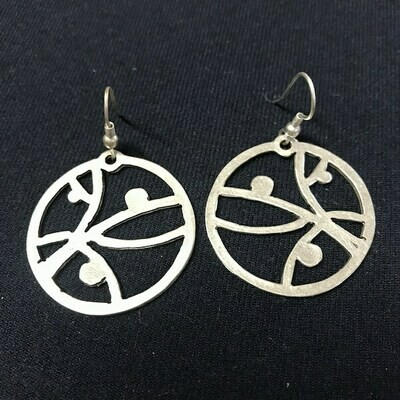 OTE-17 Silver plated earrings
