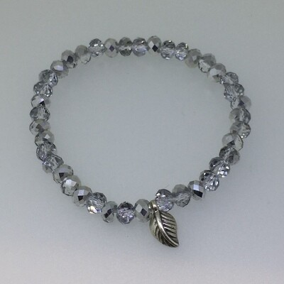 LHB-2 Silver & Gold plated stone bracelet