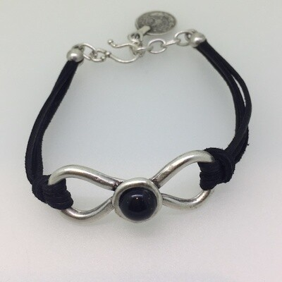 OTB-21 Silver plated leather bracelet