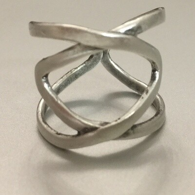 OTR-17 Silver plated ring