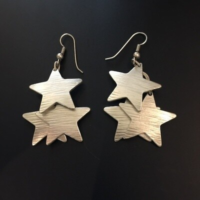 OTE-43 Silver plated earrings