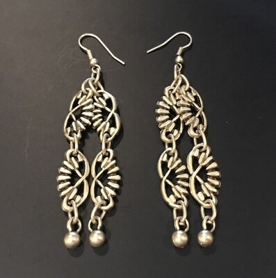 OTE-45 Silver plated earrings