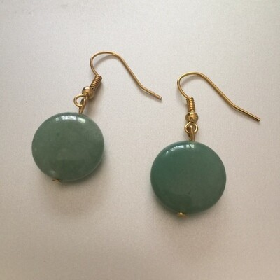 BE-2001 Gold plated stone earrings