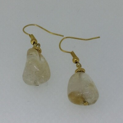 BE-2010- Silver & Gold plated earrings