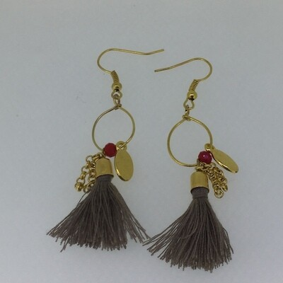 BE-2011 Silver & Gold plated earrings