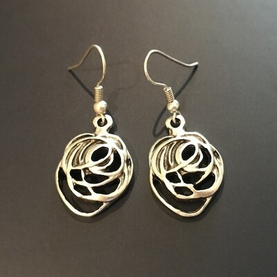 OTE-31 Silver plated earrings