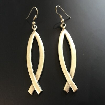 OTE-37 Silver plated earrings