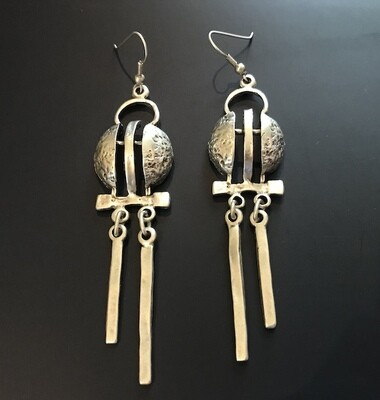 OTE-33 Silver plated earrings