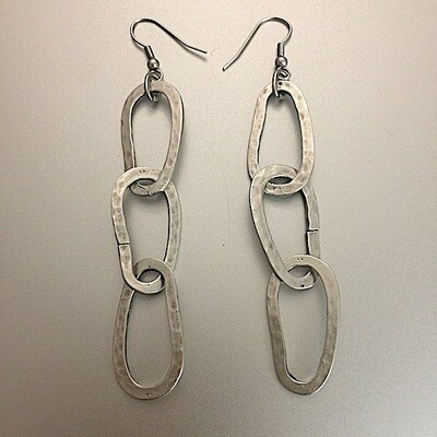 OTE-3188 - Silver plated earrings