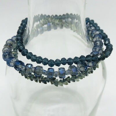 LHB-15 Crystal and stone bracelets