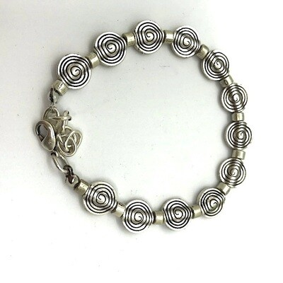 LHB-14 Silver plated bracelet