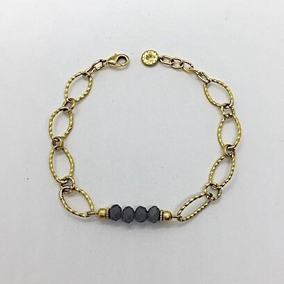 LHB-21 Gold plated stone bracelet