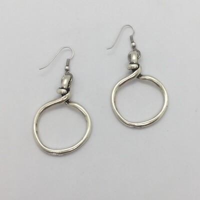 BE-6379 silver plated earrings