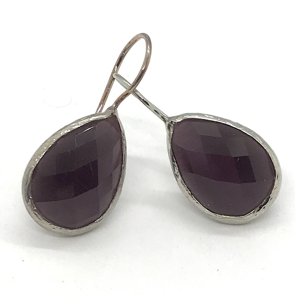 45003S - Silver & Gold Plated Stone Earring