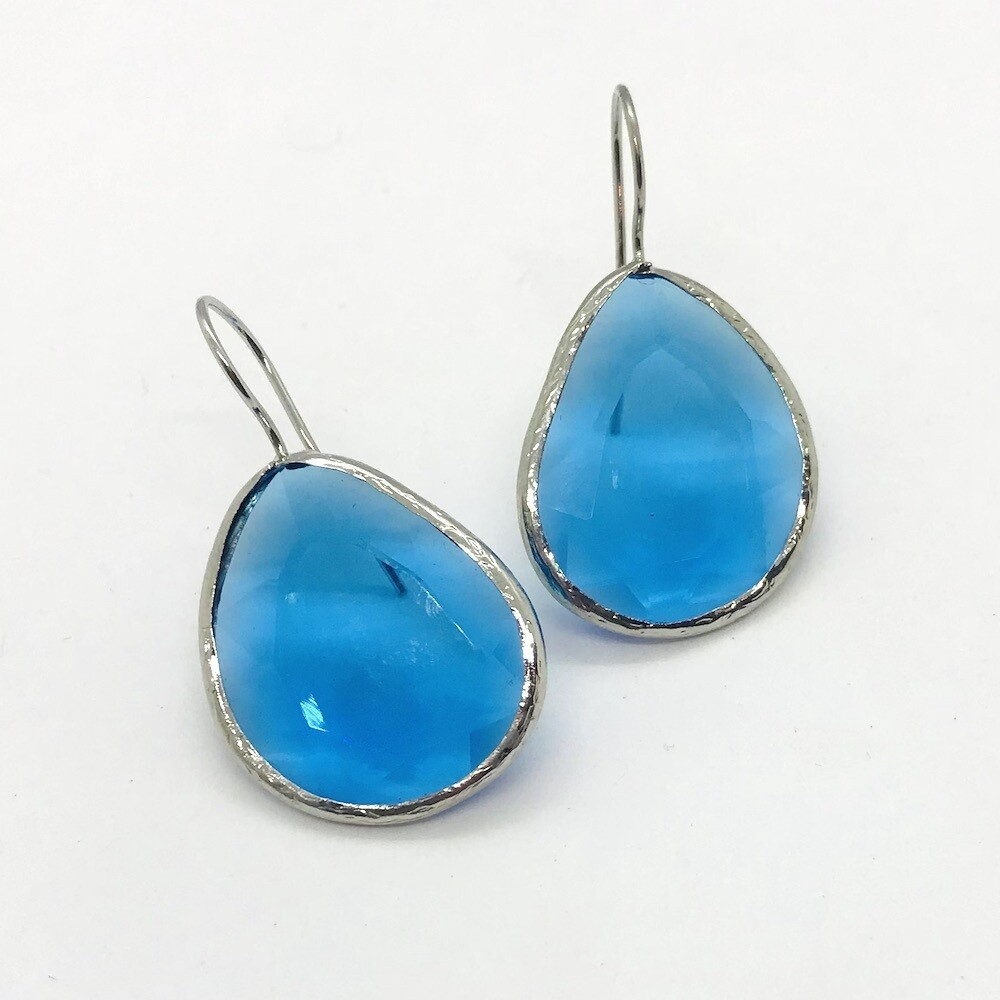 45038S - Silver & Gold Plated Stone Earring