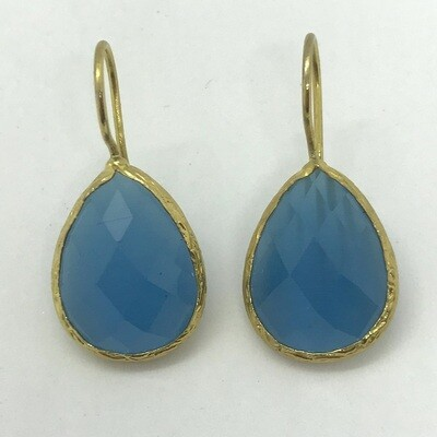 45005 - Silver & Gold Plated Stone Earring