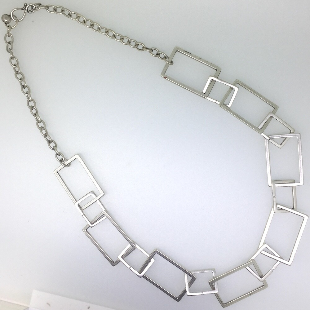 LHN-74 Silver plated necklace