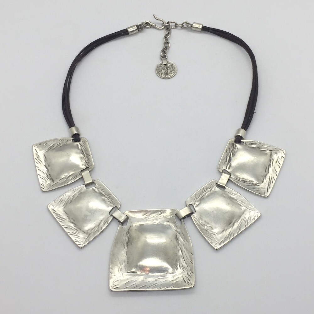 1163 Silver plated necklace
