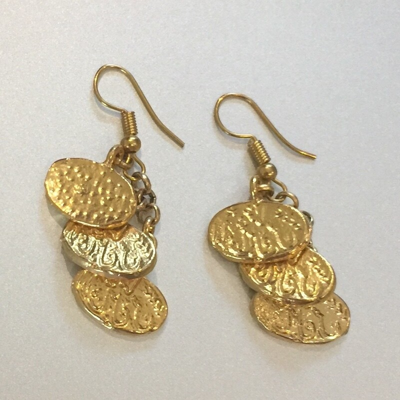 LHE-19 Gold plated earrings