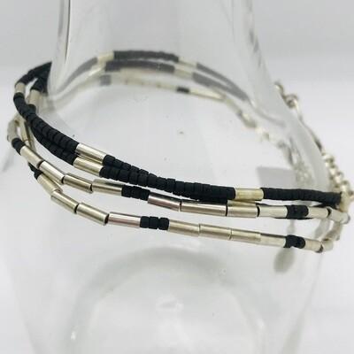 OTB-20 black & silver plated bracelets